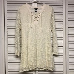 Forever 21 Lace Overlay Mini Dress, Size S